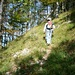 Zweite Tour auf den Ruchen am 8.10.2006: Auf dem Westgrat zum Ruchengipfel. Meinem Göttibueb hats gefallen!