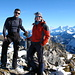 [U Cyrill] und [U Tanja] auf dem Gipfel des Ochsen 2188m