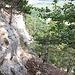 Die letzen beiden Seillängen, schrofiges Gehgelände, kurze IIIer Stelle