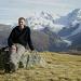 Pause devant le massif du Mont Rose