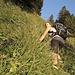 Steiles Grasvergnügen auf den Wenneligrat