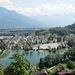 Blick vom Turm ins Rheintal und auf Buchs