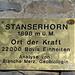 Tafel auf dem Gipfel des Stanserhorns