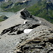Abstieg dann über diesen Grat hier, den Südwestgrat