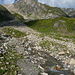 Weg vom Pass 2745 müM. zur Motterasciohütte.