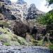 Felslandschaft über der Mündung des Barranco de Masca
