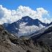 Der wunderschöne Berg mit dem unglücklichen Namen. Der Monte Disgrazia. Beeindruckend, selbst auf diese Distanz.
