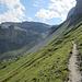 noch ein Stück, dann zweigt der Abstieg nach Linthal nach links ab