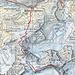 Karte mit eingezeichneter Route