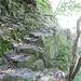 sentiero del versante sinistro della Valle del Salto