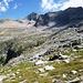 Alpe Piatto im Val di Tome - links der Crestone, welcher zum Triangolino leitet