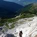 Klettersteig Nord, oberer Teil