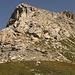 a destra la cima del Sassalbo vista dal versante svizzero,siamo a quota 2620 circa