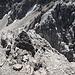 Abstieg  - rechts oder links des Felsköpferls gehts runter und ein kurzes Stück am Grat entlang
