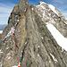Einstieg in die schwierigen Felsen der Pointe Young direkt nach dem Start
