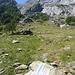 Hier der Abzweiger zum Klettersteig