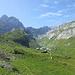 Vor der Meglisalp gehts links hoch Richtung Widderalpsattel