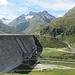 die Staumauer des Silvretta Stausees