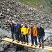 was mit einem Bergführer, einem Bauingenieur, einem Wasserbauingenieur, einem Baupolier und einem ehemaligen Bauarbeiter kein Problem darstellte