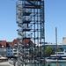 der Aussichtsturm in Friedrichshafen war rege besucht
