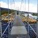 Nach einigen Regengüssen überqueren wir die Brücke über den Kamajåkka und erreichen unser Tagesziel Abiskojaure