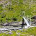 Nach der Brücke über den Moammajokka beginnt die Steigung hinauf zu den beiden Cazajavri