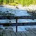 Abzweigung an der Brücke zum Pas du Chasseur.