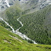 Das angrenzende Tälli ist weglos. Ursprüngliche Wildnis im Gletschervorfeld.