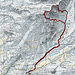 Karte mit Route
