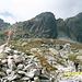 vor dem Einstieg in den Klettersteig
