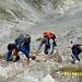 am Beginn des einfachen Klettersteig