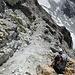 Abstieg durch die Südflanke