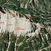 3D-Übersicht der Überschreitung (Anklicken für Zoom). Gut zu sehen sind die 3 Schrofenwannen (mir fiel keine bessere Bezeichnung ein), welche gequert werden. Die steilste Stelle ist am Ende der dritten, danach geht es nordwärts zum Grat und das Gelände bleibt danach leicht.