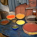 Natürliche Färbersubstanzen in den Färbersouks von Marrakesch
