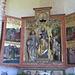 Chiesa di Genhofen. Altare di sinistra: Sant'Anna fra Santo Stefano e San Rocco.