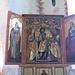 Chiesa di Genhofen. Altare di destra: Santa Margareta, San Wendelin e San Oswald.