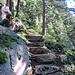 weitere Treppen, diesmal aus Naturstein