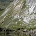 il tratto di sentiero in traverso nella valletta Val Verda