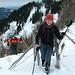 Im Anstieg zum Sattel zwischen Jägerwand und Steilner Joch