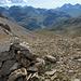 Fuorcla Alva und der Blick ins Tal durch das ich in Richtung Julierpass abstieg.