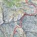 Ungefähre Route Ribia - Catögn - Val di Campo