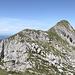 Die 3 Leistchämme mit dem Alpstein, gesehen vom Steinmann südlich des Vorder Leistchamms