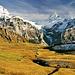 Der Milibach schlängelt sich hinunter nach Grindelwald.