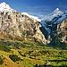 Grandiose Arena über dem herbstlichen Grindelwalder Tal.