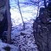 Das schmale Verbindungsgrätchen. Hier bin ich umgekehrt. Die Kletterei beginn an den Felsen am rechten Bildrand und bewegen sich im 1-2 Grad. Im Sommer ist das ganze sicher zu machen.
