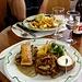 Assiette végétarienne du jour und Entrecôte de boeuf parisienne I
