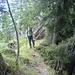 Kollege Stefan beim Aufstieg über den Grat aufs Buochserhorn