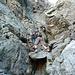 Kletterei zur Trubinasca-Scharte