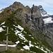 Col du Jorat 2212 m mit den Südwänden der Rochers de Gagenerie