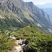 Rückblick auf den Aufstiegsweg oberhalb der Felsstufe